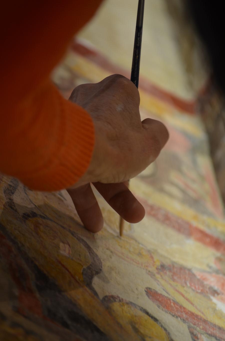 Restauration des peintures murales de la cathédrale