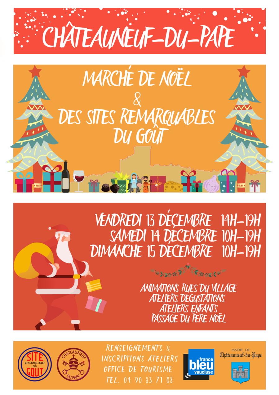 Marché de Noël des Sites Remarquables du Goût à Châteauneuf-du-Pape