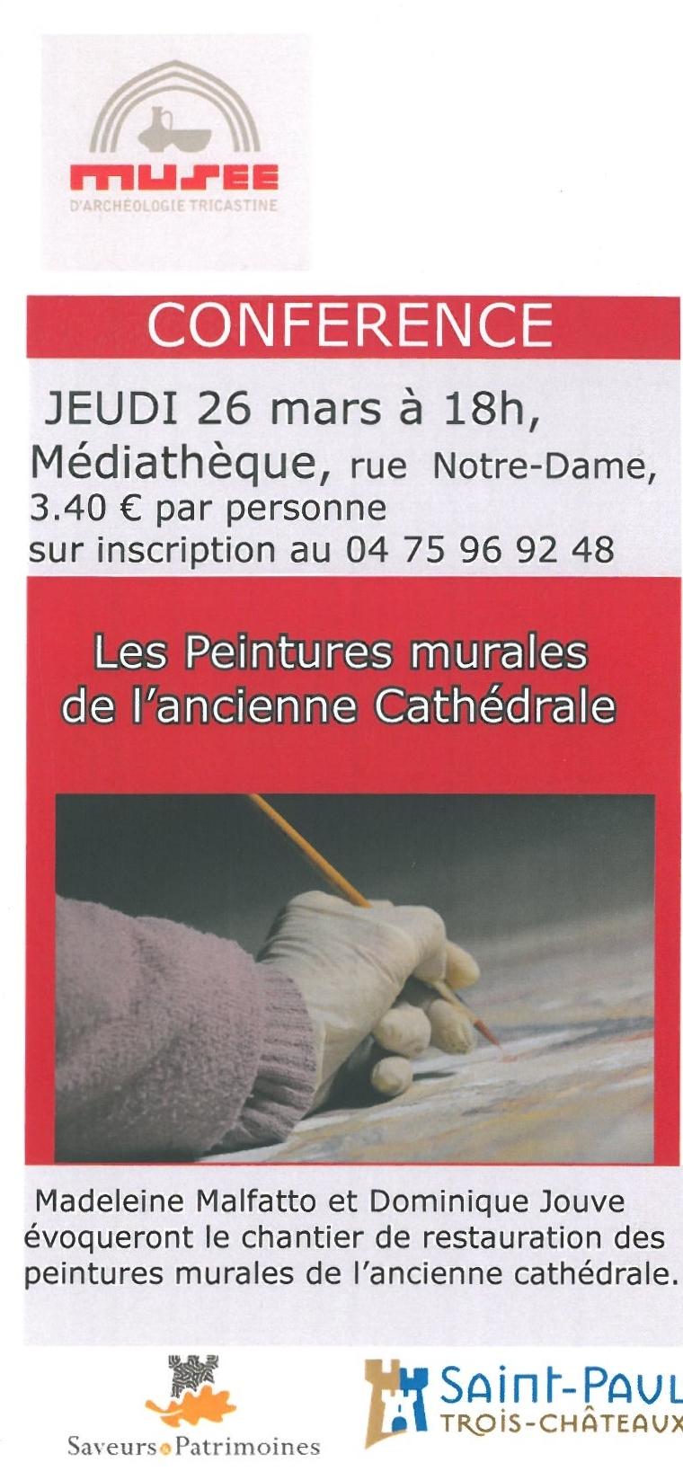 """Conférence """"Les peintures murales de l'ancienne Cathédrale"""""""
